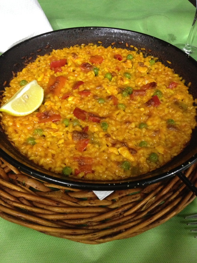 Paella.  Very common spanish cuisine.